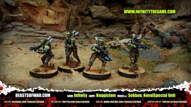 Game: Infinity Army: Haqqislam Model(s): Sekban, NavalSpecial Unit