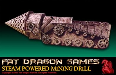 Steam Powered Mining Drill