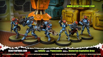 Game: Infinity Army: Panoceania Model(s): Neoterran Capitaline Army