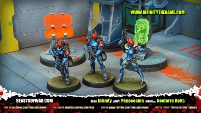 Game: Infinity Army: Panoceania Model(s): Neoterra Bolts