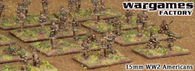15mm WWII Americans Painted