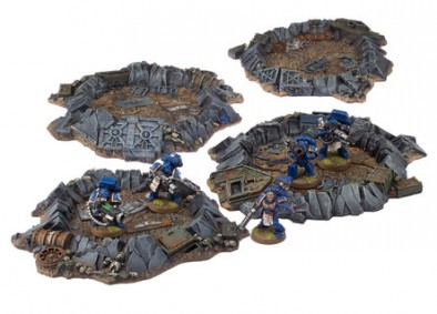 Quake Cannon Craters with Scale