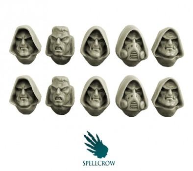 Space Knight Hooded Heads