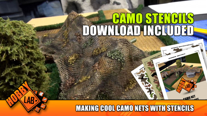 Hobby Lab: Making Cool Camo Nets With Stencils