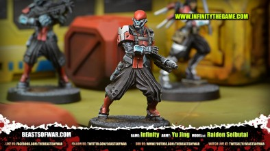 Game: Infinity Army: Yu Jing Model(s): Raiden Seibutai