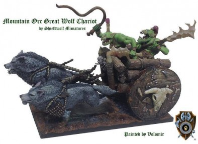 Mountain Orc Wolf Chariot