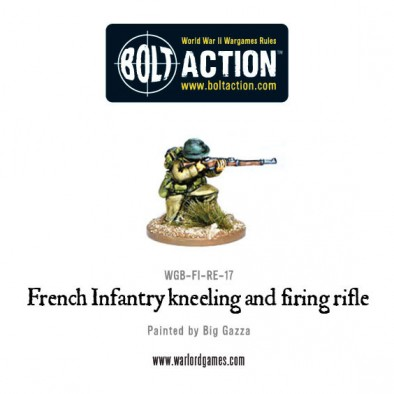 French Kneeling With Rifle