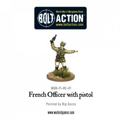 French Officer With Pistol