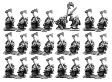 10mm Dwarf Warriors with Great Weapons