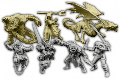 Descent 2nd edition heros minis