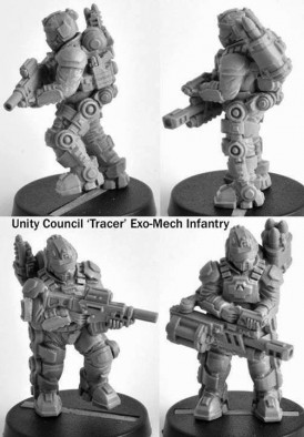 Unity Marines with Tracer Exo-Mech Armour