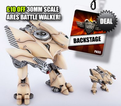 £10 OFF 30mm Scale Ares Battle Walker!