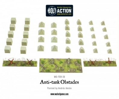 Anti-Tank Obstacles Dragons Teeth and Barbed Wire