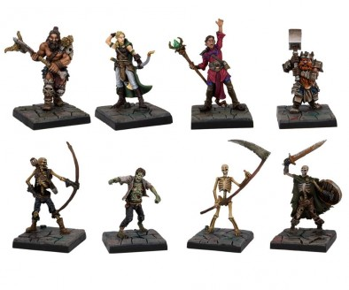 Dungeon Sagas Painted Heroes & Enemies