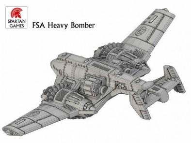 FSA B-72 Heavy Bomber (Rear)