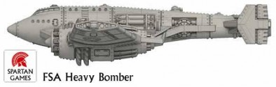 FSA B-72 Heavy Bomber (Side)