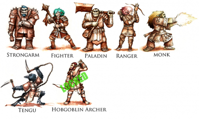 Half Orc Adventurers & Add-Ons