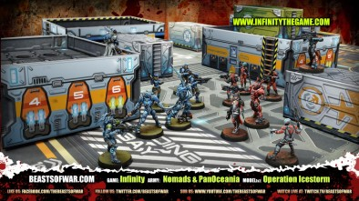 Game: Infinity Army: Nomads & PanOceania Model(s): Operation Icestorm