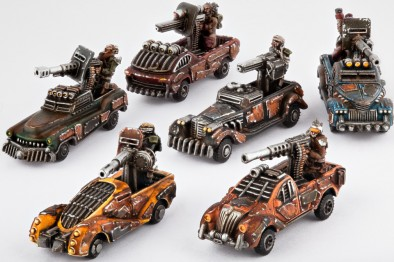 Resistance looted trucks