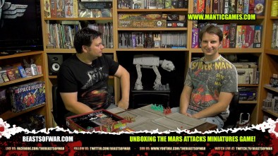 Unboxing The Mars Attacks Miniatures Game!