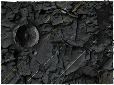 Highway to Hell Diagonal Gaming Mat Crater