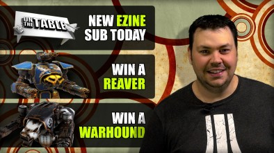 NEW On The Table EZine and WIN a 40K Titan