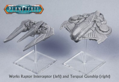 Works Raptor Interceptor and Terquai Gunship