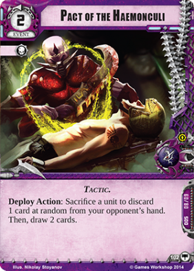 Pact of the Haemonculi