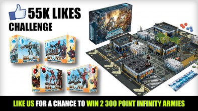 55K Likes Challenge – Win Two 300 Point Infinity Armies!