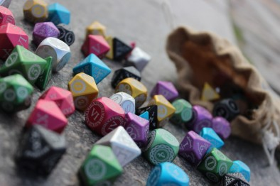Dragon Scales Polyhedral Dice