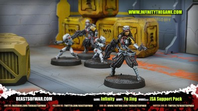 Game: Infinity Army: Yu Jing Model(s): JSA Support Pack