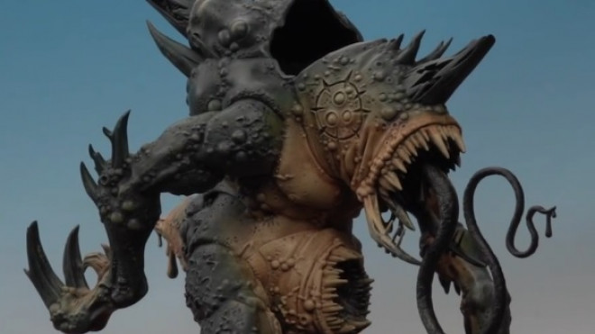 Games Workshop Painting Tutorial: Painting A Maggoth Lord #1