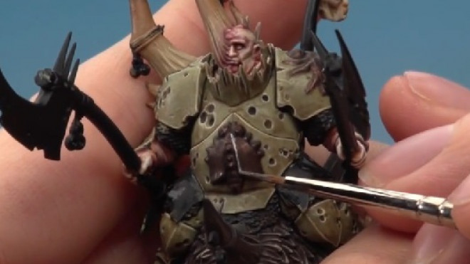 Games Workshop Painting Tutorial: Painting A Maggoth Lord #3