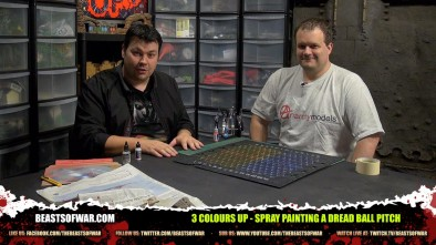 Air Brushing Your Battle Zones Dread Ball Pitch!