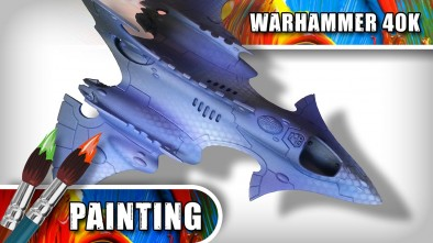 Airbrushing 40K Hemlock Wraithfighter with Anarchy Models Stencils