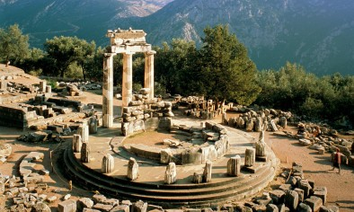 Ruins of the Temple of Athena in Delphi