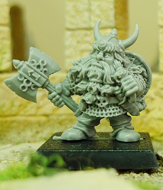 Dwarf with Horned Helm