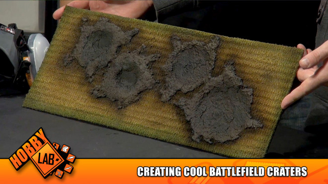 Hobby Lab: Creating Cool Battlefield Craters