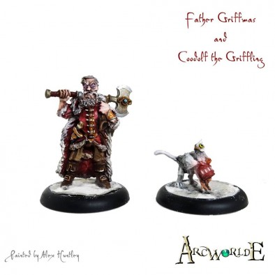 Father Griffmas & Coodolf the Griffon