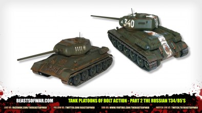 Unboxing: Tank Platoons Of Bolt Action - Part 2 The Russian T34/85's
