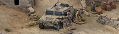 Shooting over the HMMWV