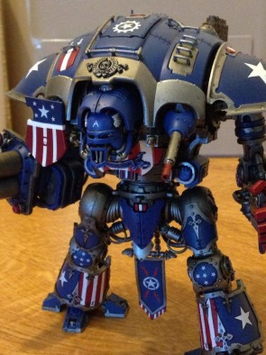 Captain America Imperial Knight (Close-Up)