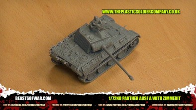 Plastic Solider Company - 1/72nd Panther Ausf A with zimmerit
