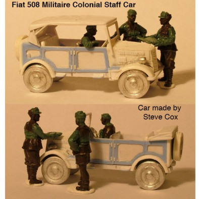 Fiat 508 Militaire Colonial Staff Car