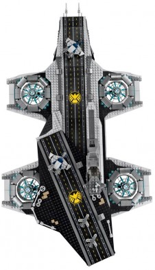 Lego Helicarrier (Top Down)