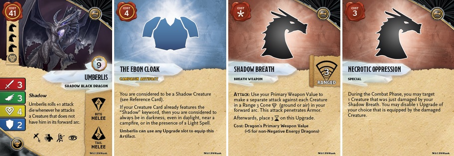 WizKids Preview The Stats Of Their D&D Shadow Black Dragon
