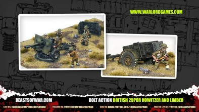 Unboxing: Bolt Action British 25pdr Howitzer & Limber