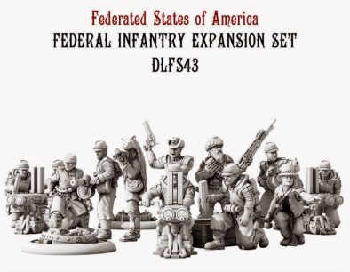 Dystopian Legions Federated States of America Federal Infantry Expansion Set