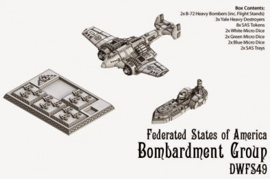 Dystopian Wars Federated States of America Bombardment Group