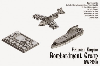 Dystopian Wars Prussian Empire Bombardment Group